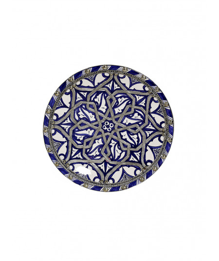 Ceramic enamelled plate