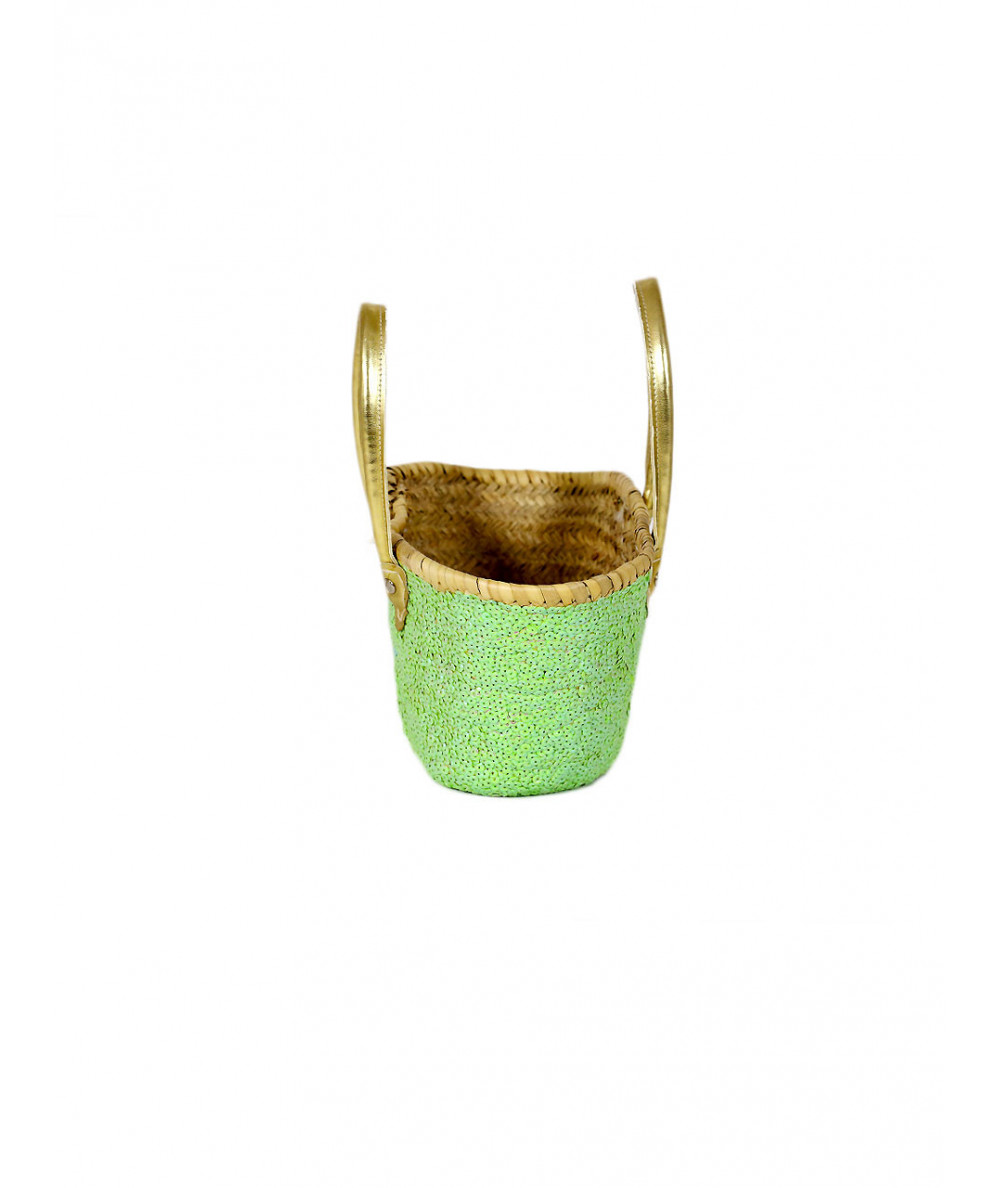 Yellow straw basket