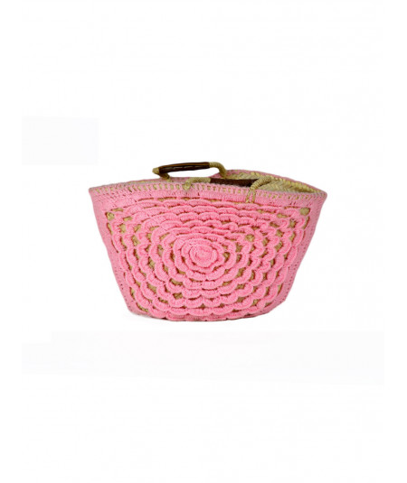 Basket pink wool