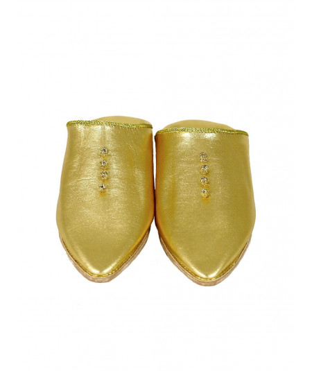 Pointed leather slipper