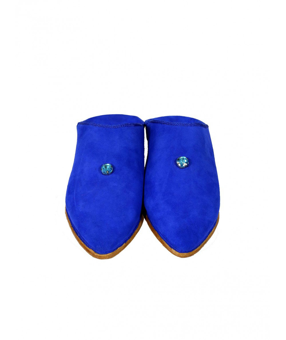 Pointed slippers suede
