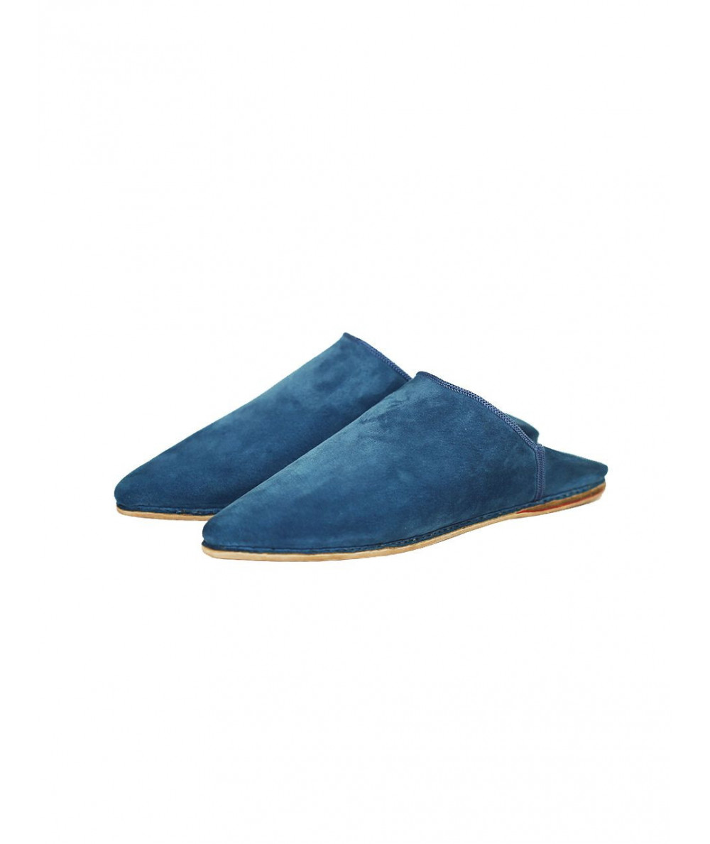 Pointed  suede babouche