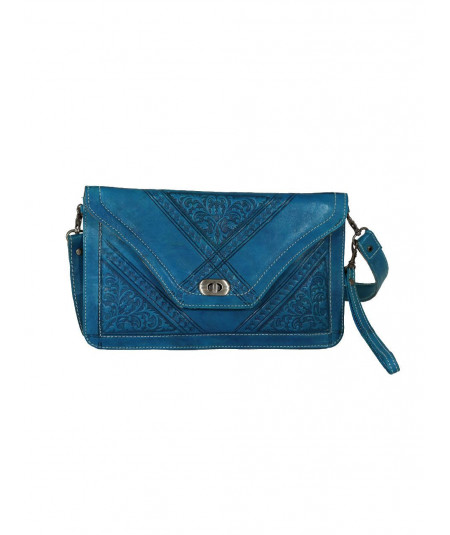 Turquoise pouch bag