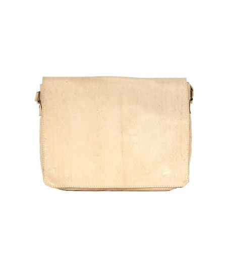 Beige Calfskin leather  Satchel