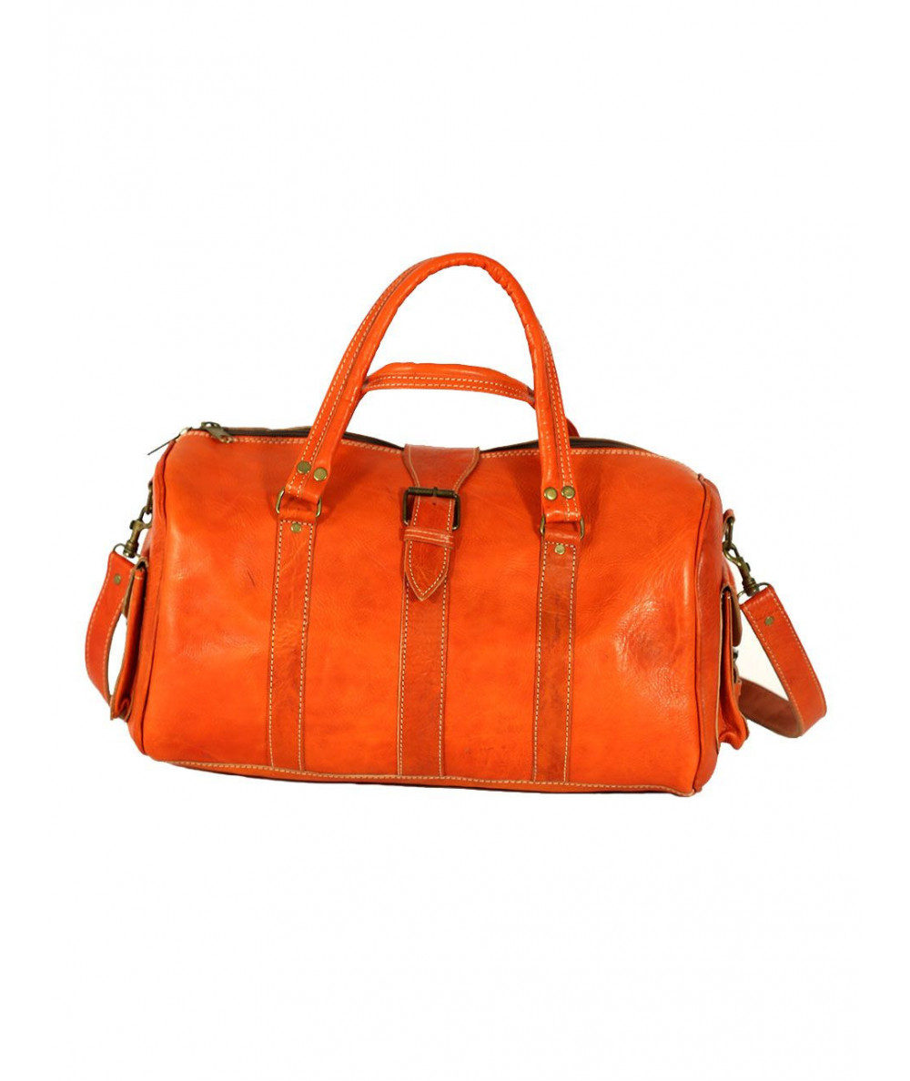 Oranged Leather travel bag