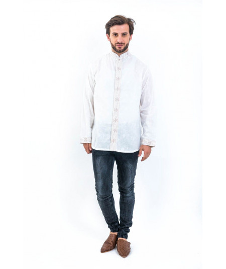CHEMISE HOMME BOUTON VERRE