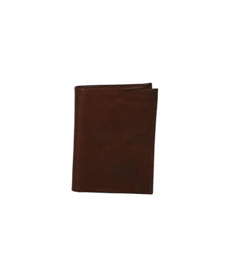 choclate sheep skin leather wallet