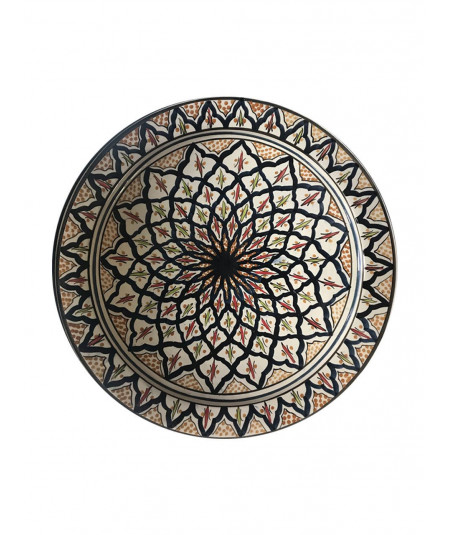 Marrakech ceramic plate