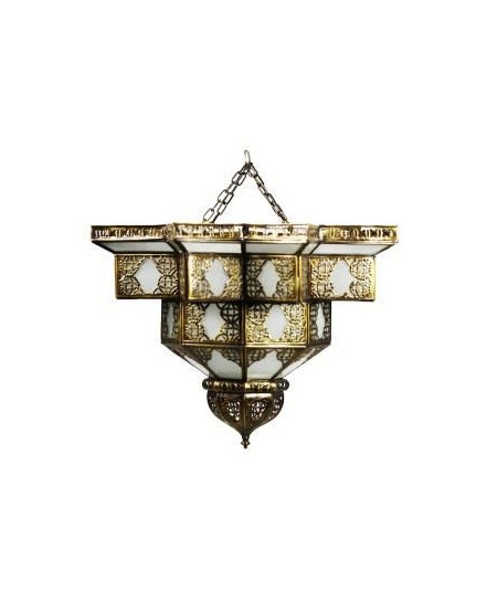Ceiling light Copper with sandblasted glass