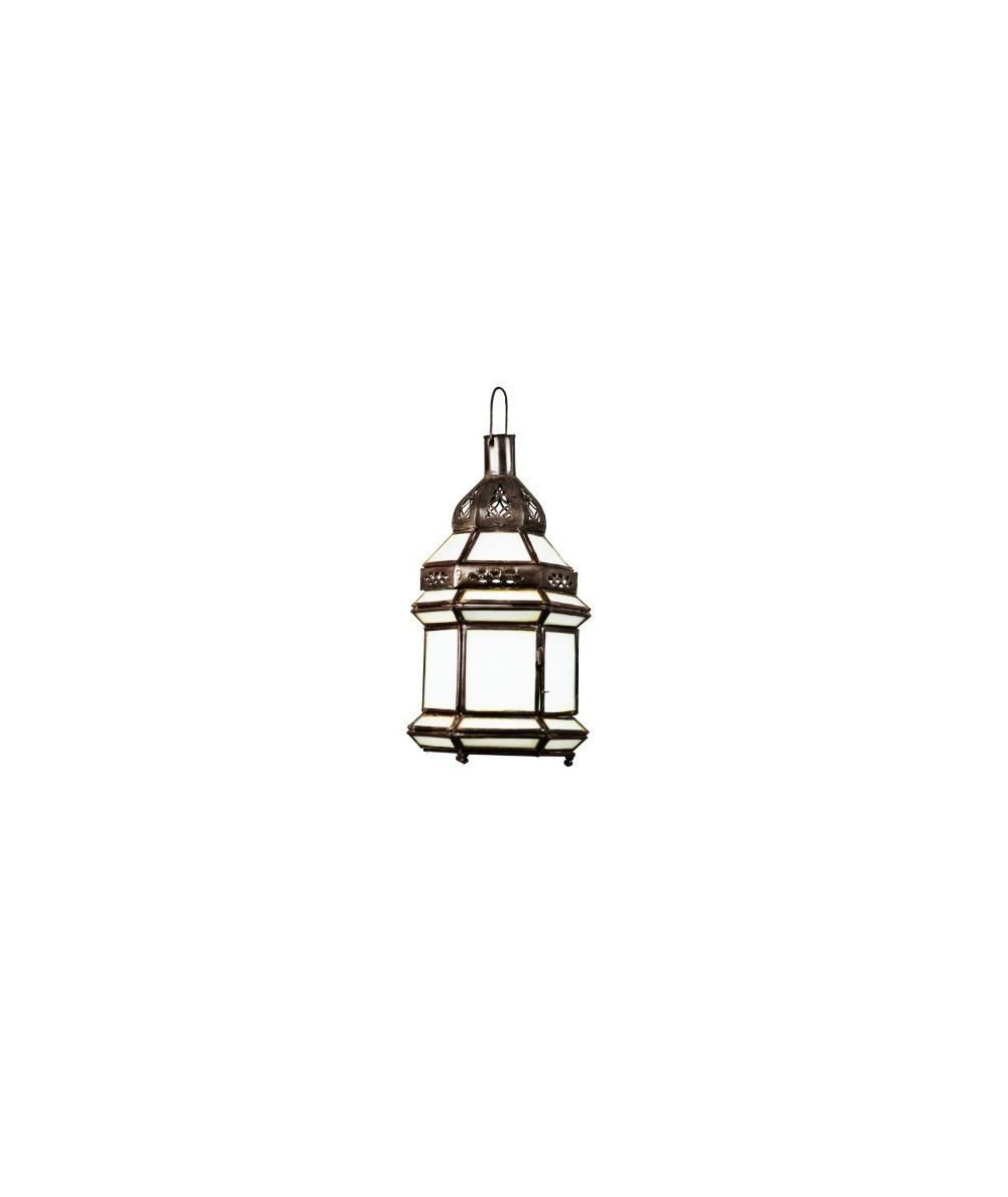 Lampe suspension verre blanc