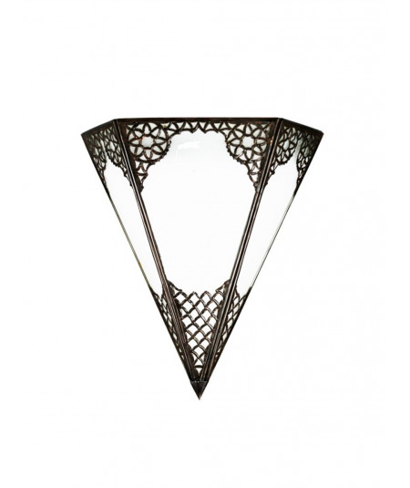Wall lamp copper triangle
