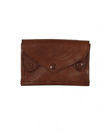 Leather clutch bag brown