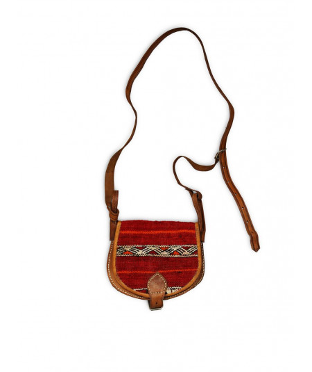 Small leather & kilimhandbag