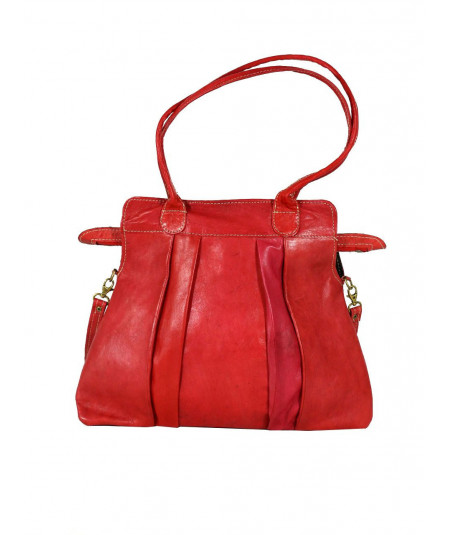 Soft Leather Red Handbag