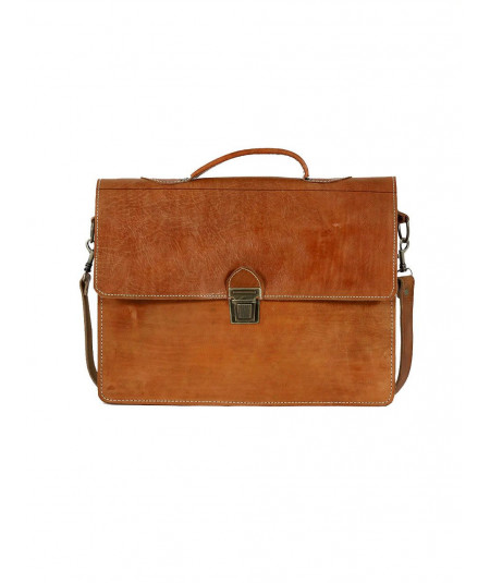 Calfskin Leather Satchel
