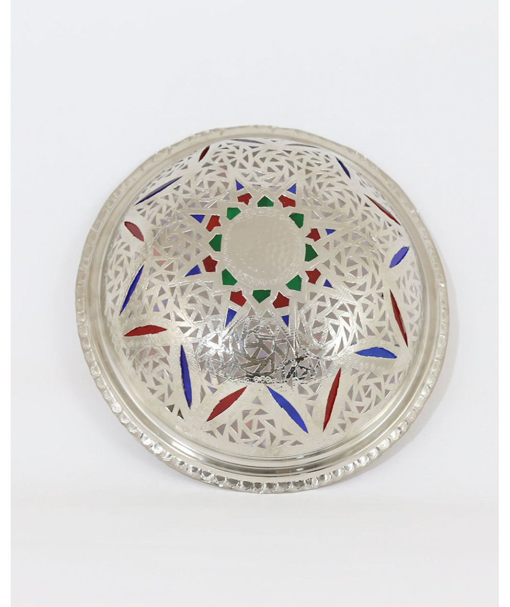 Moroccan wall sconce in iraqi style in silver