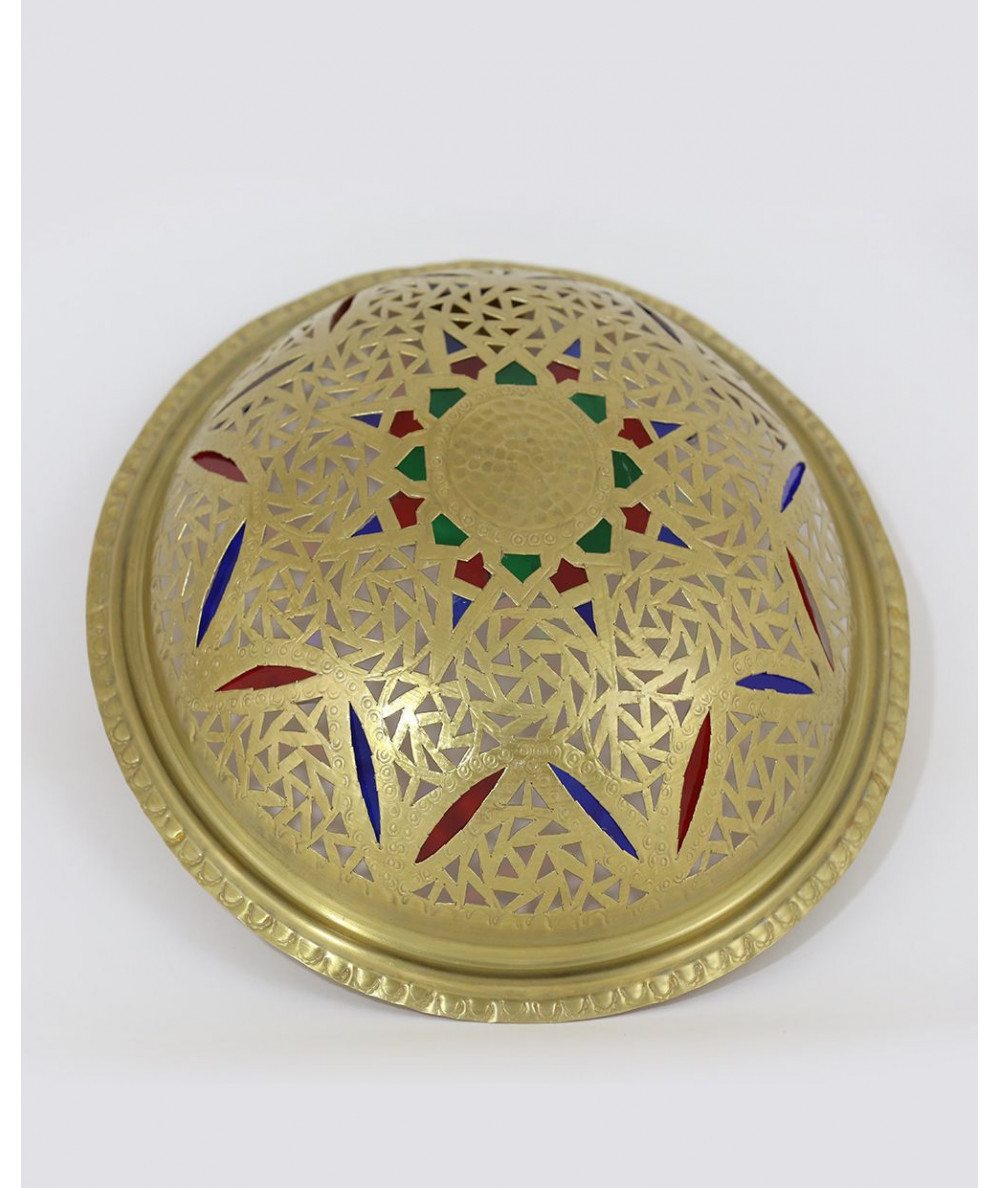 Moroccan wall sconce in iraqi style golden
