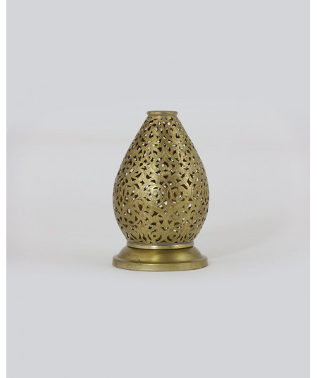 Golden handmade candle holder oval