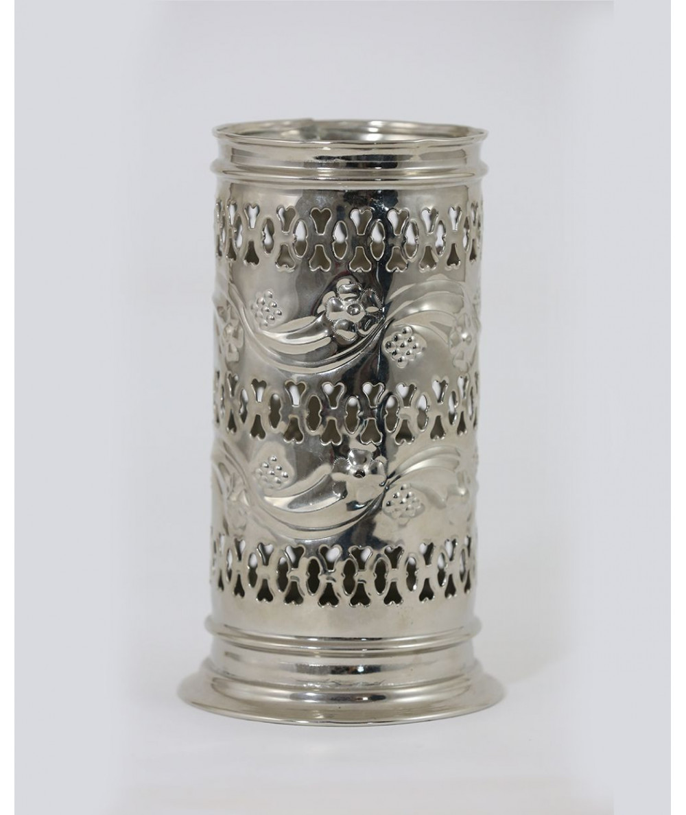 Silver container of water bottle