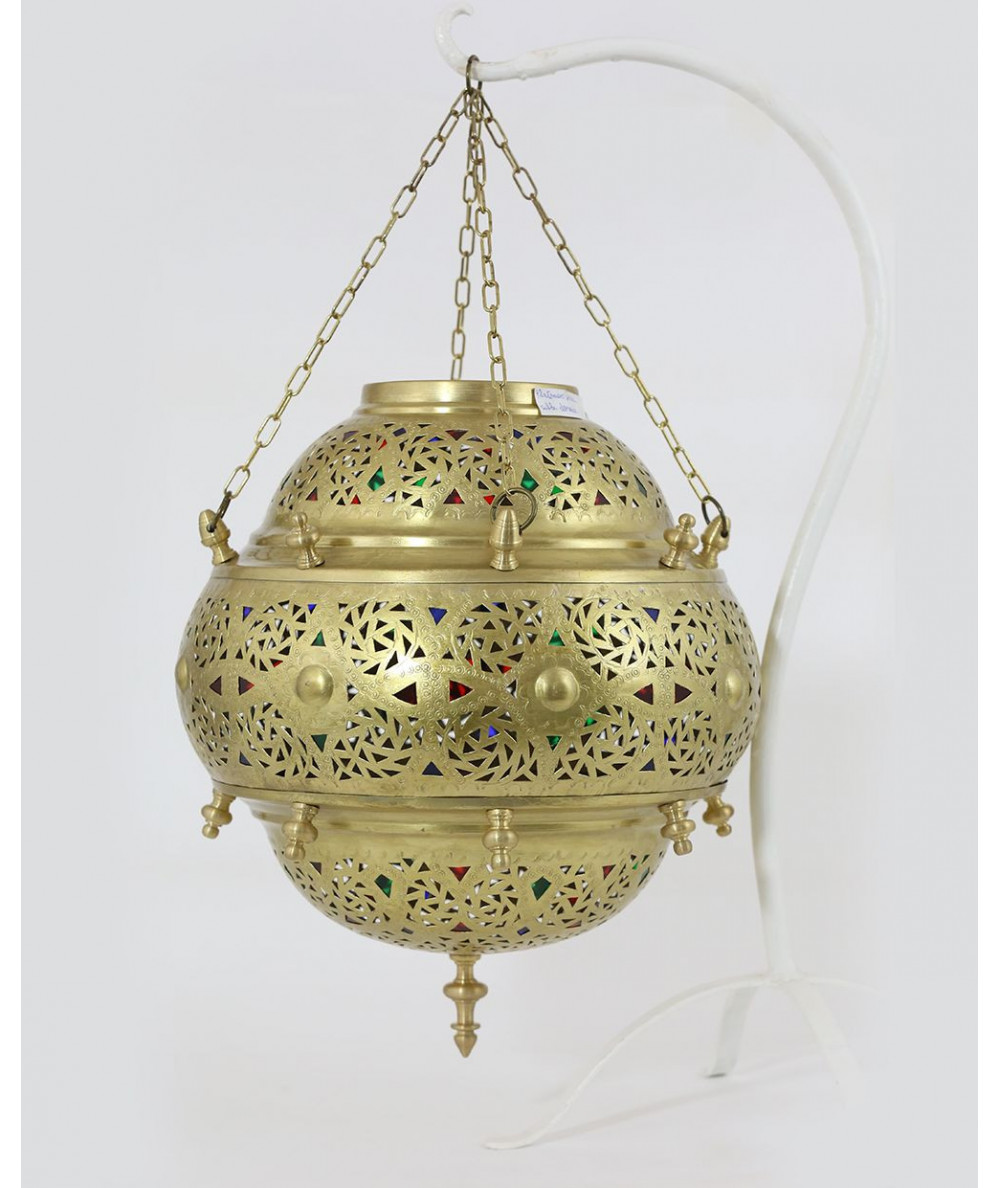 Large gilded floor lamp (iraqi chain suspension)