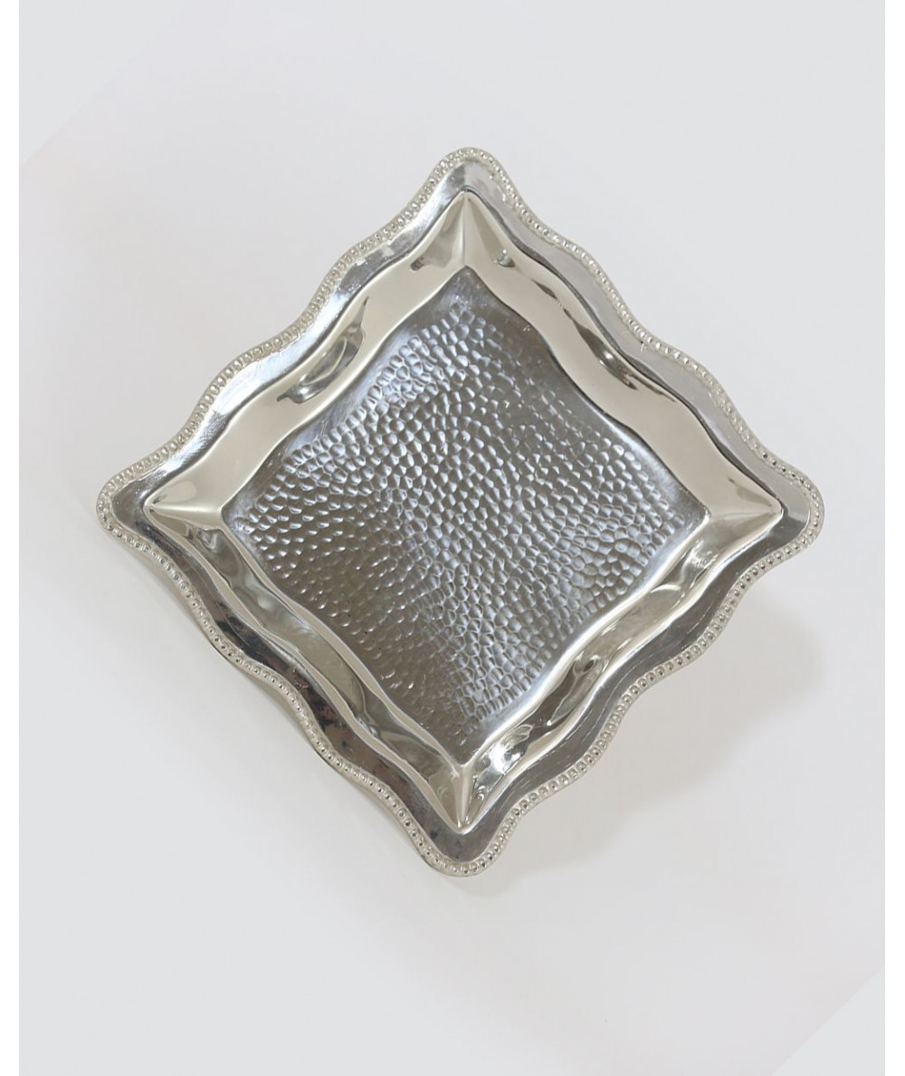 Small decorative tray with silver feet