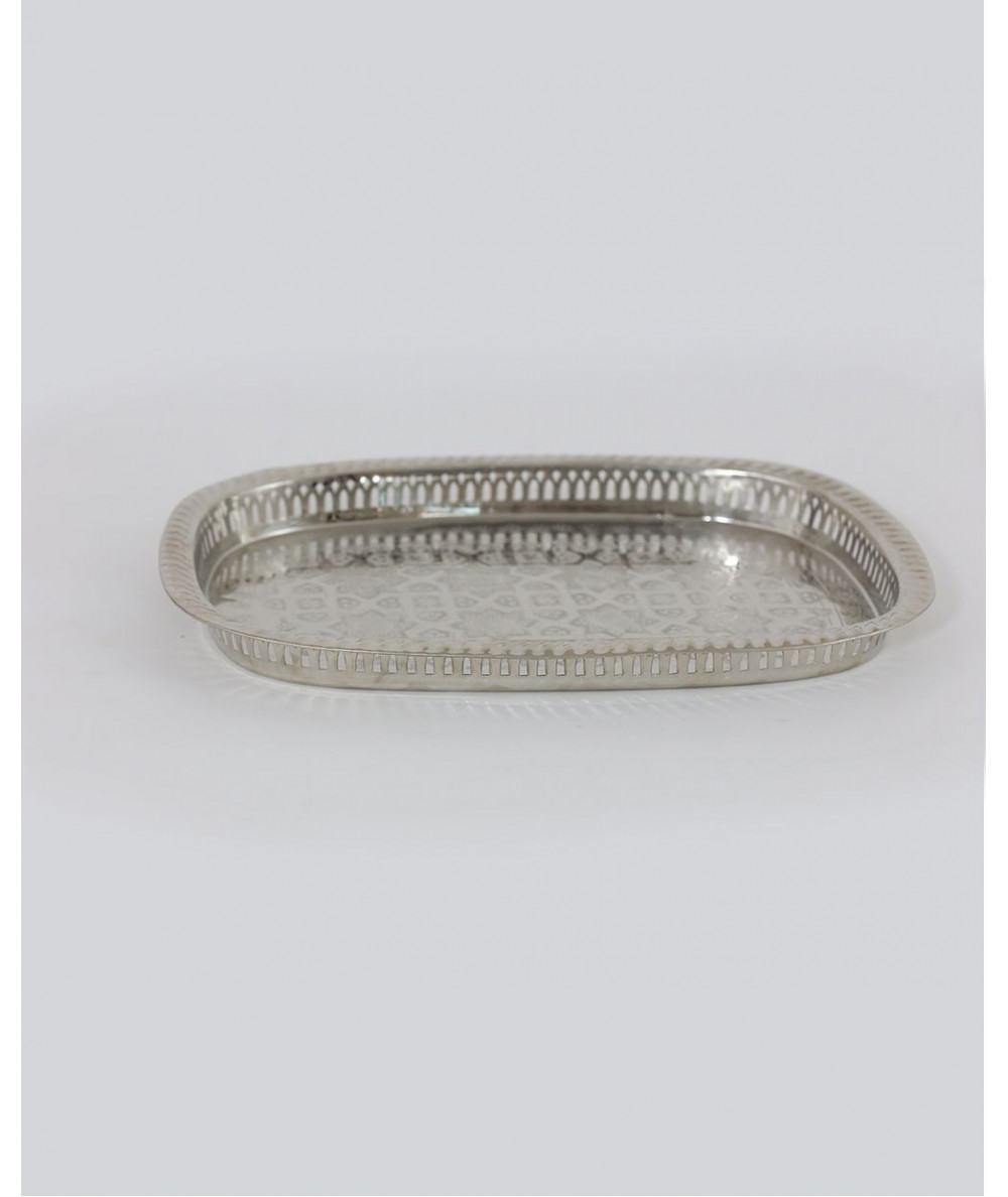 Silver rectangle tray