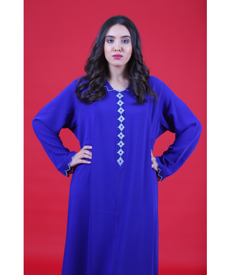 Djellaba royal blue with randa