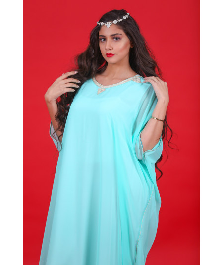 Gandoura green water two-piece with sfifa