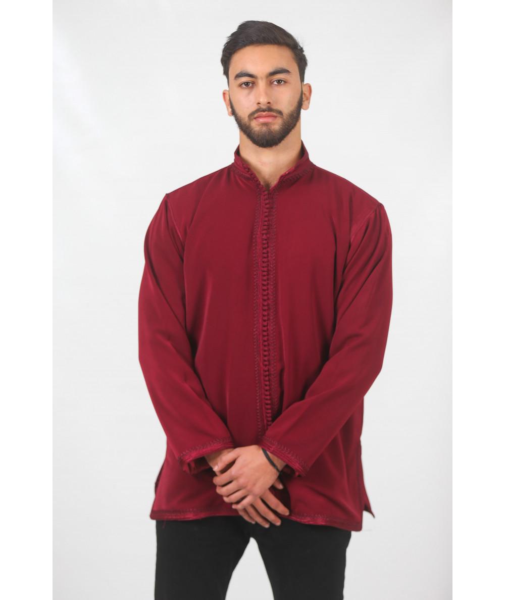Garnet traditional tunic with satin lining