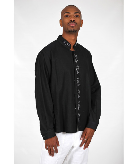 Men's black lined shirt