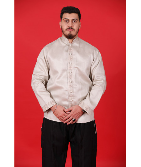 Traditional shirt in dark beige