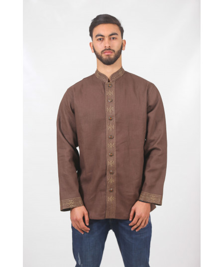Traditional brown shirt