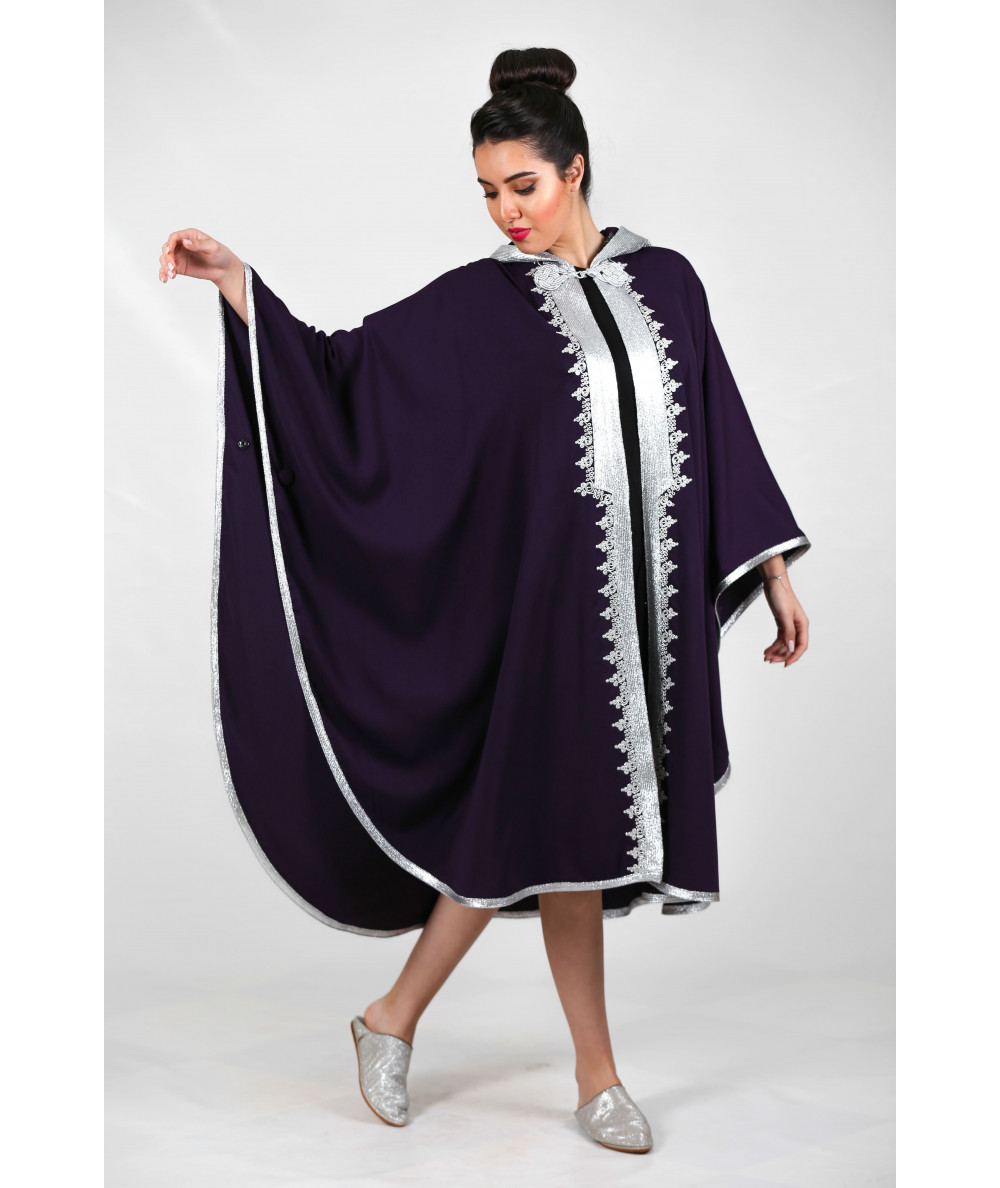 Purple cape with silver sfifa