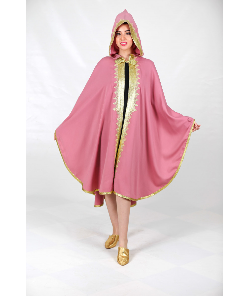 Pink cape with sfifa in gold