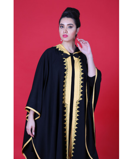 Black cape with yellow sfifa