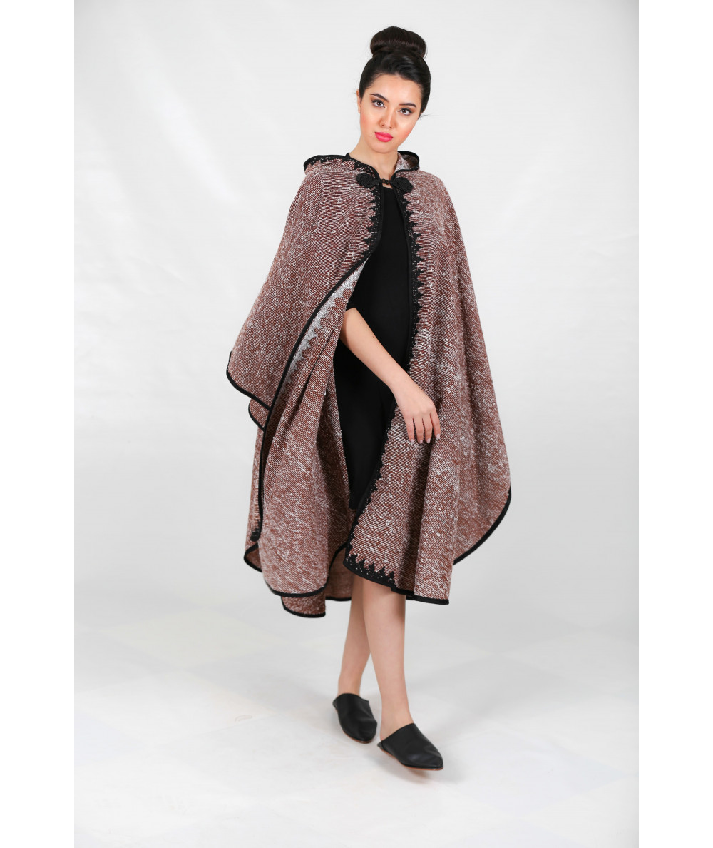 Beige printed cape