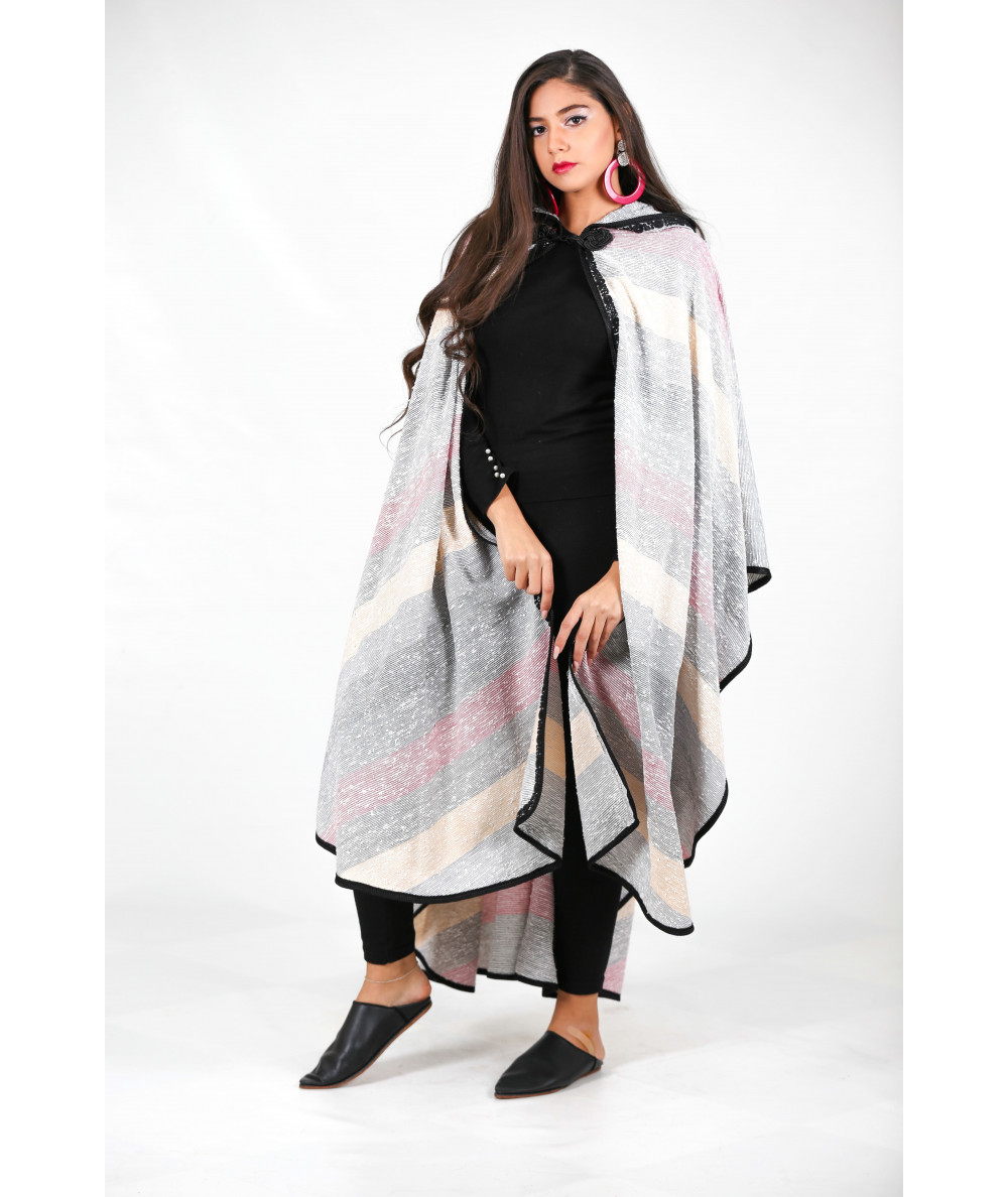 Multicolored cape