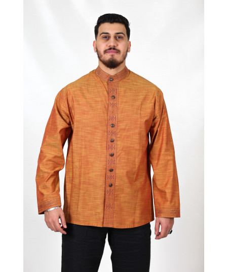 Men's shirt in brown