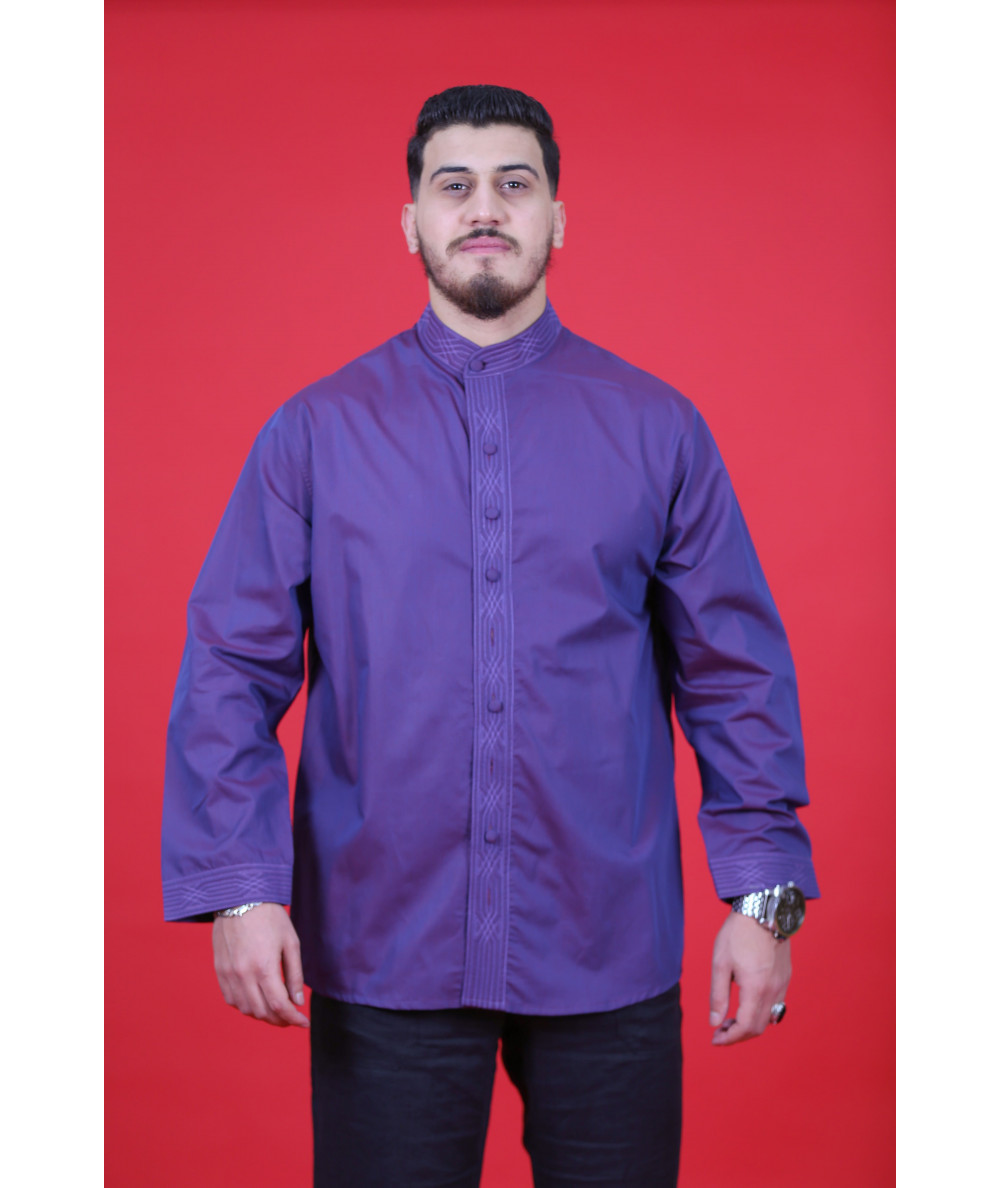 Men's purple shirt
