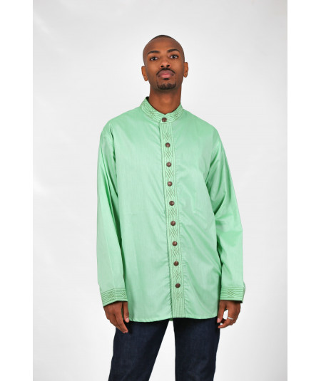 Men's traditional green shirt