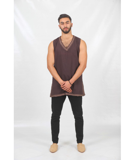 Brown tank top tunic