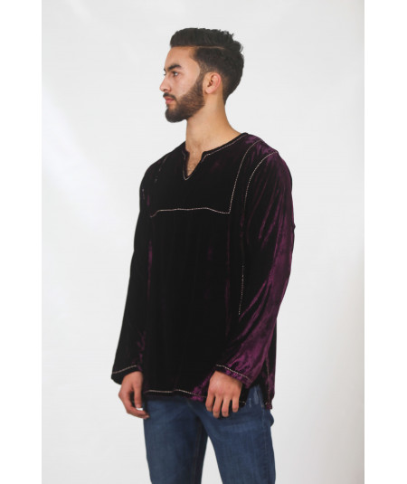 Dark purple tunic