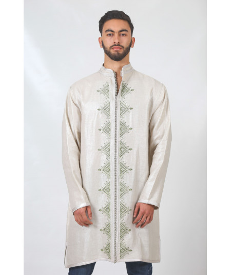 Long beige men's tunic