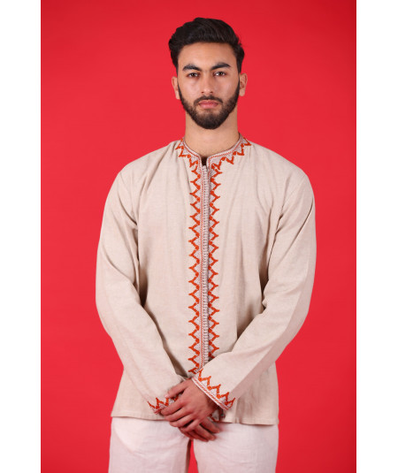 Men's tunic in beige