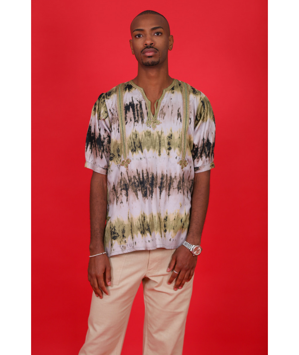 Printed tunic for men