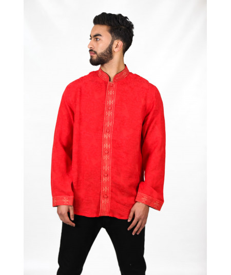 Tunique traditionnelle rouge