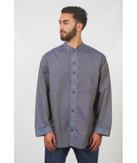 Men's traditional shirt in gray