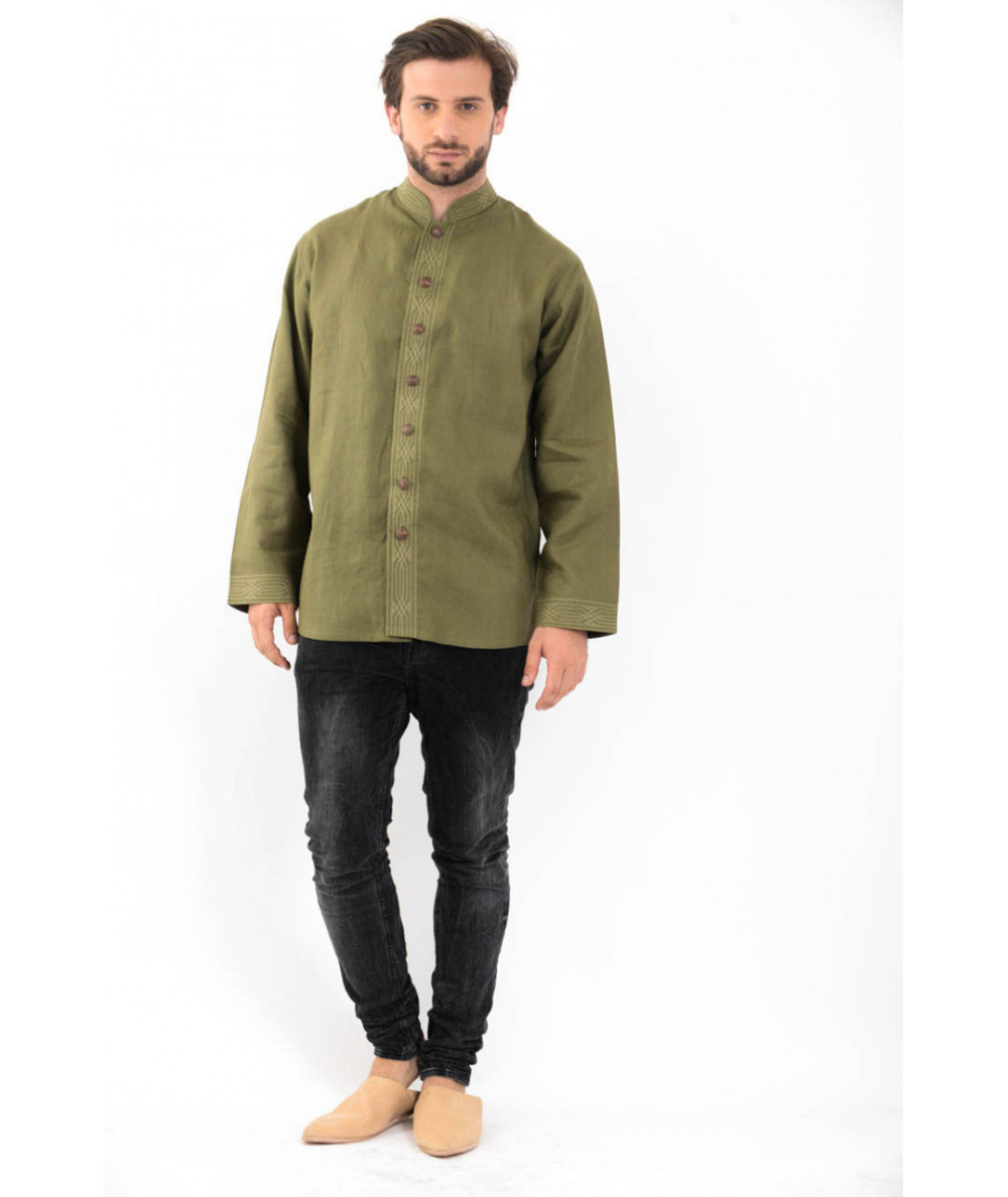 CHEMISE HOMME BOUTON METAL