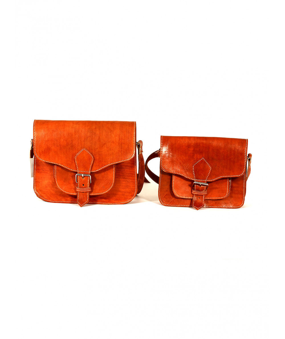Set of Two Fawn Saddlebags