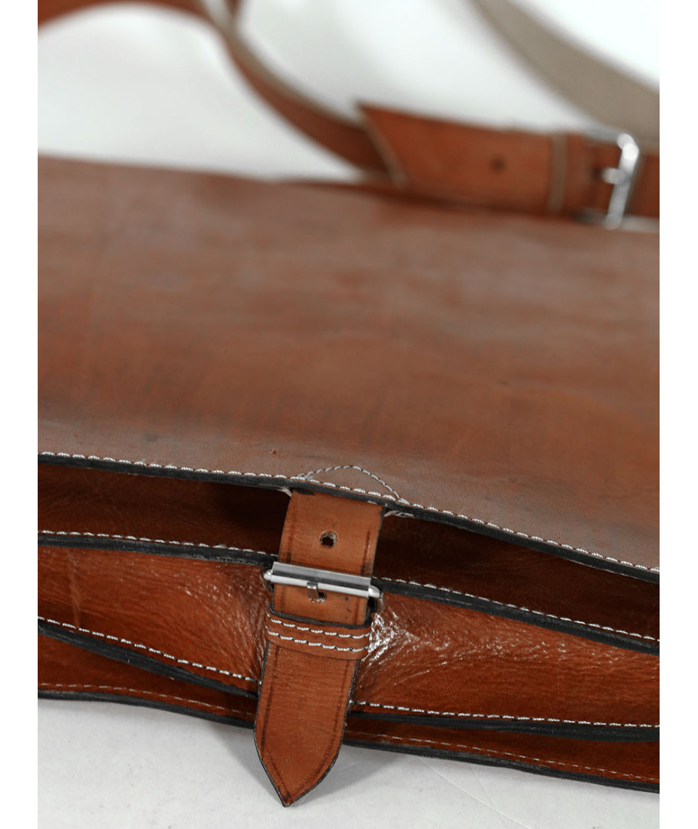 Calfskin leather fawn Satchel